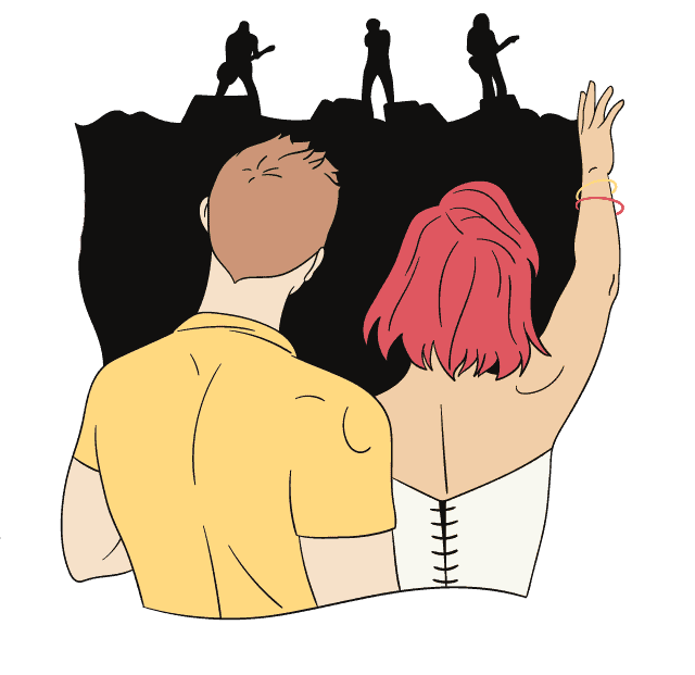Couple on a concert