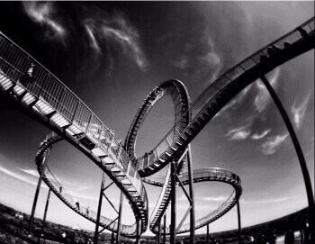 Take a roller coaster ride
