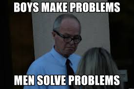 men solving problems