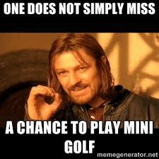 Play minigolf