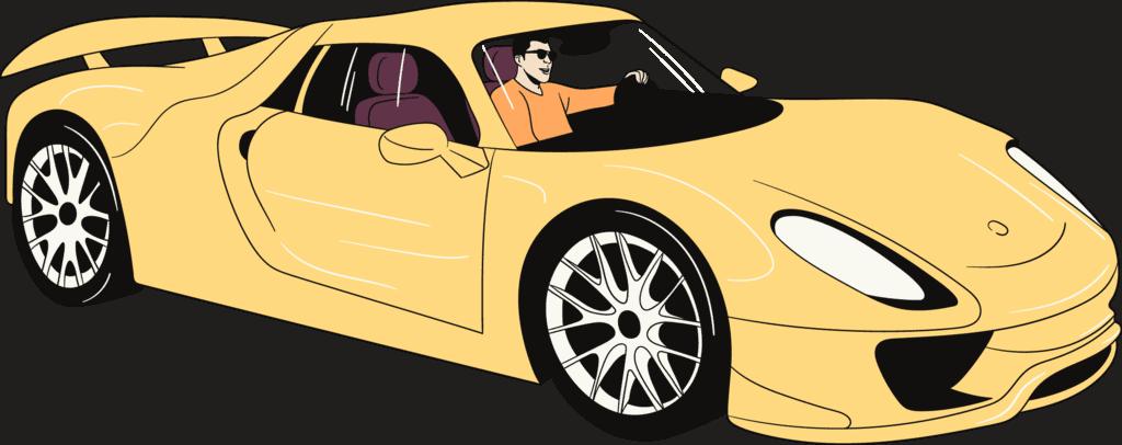 A ride in a sports car